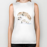 hedgehog Biker Tanks featuring Hedgehog by Susan Windsor