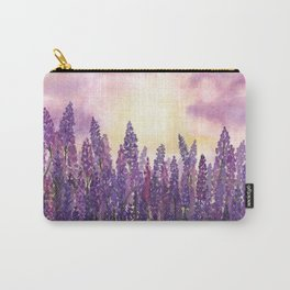 Lavender Field At Dusk Carry-All Pouch