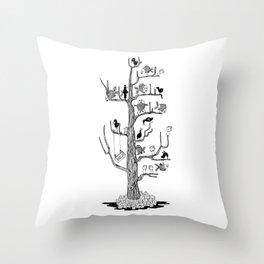 The BahKadisch Tree Throw Pillow