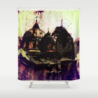 montreal Shower Curtains featuring Montreal city by Jean-François Dupuis
