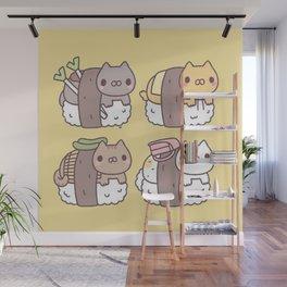 Sushi Cats Wall Mural