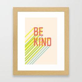 Be Kind typography Framed Art Print