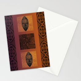Ethnic 3 - African Style Pattern Stationery Cards