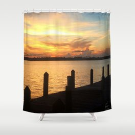 Dockside Dreaming Shower Curtain