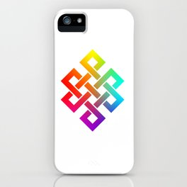 Eternity knot in rainbow colors iPhone Case
