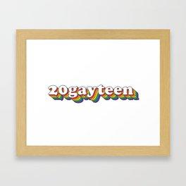 20gayteen Framed Art Print