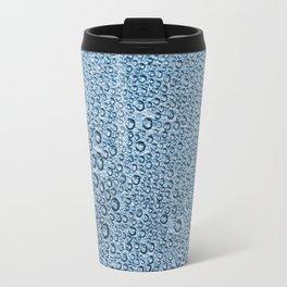 Water Condensation 05 Blue Travel Mug