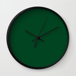 UP Forest green - solid color Wall Clock