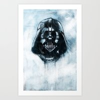 dark side Art Prints featuring Dark Side by ErDavid