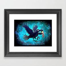 Crow Stealing an Eye Framed Art Print