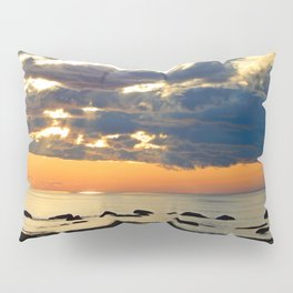 Textures Clouds over the Sea Pillow Sham