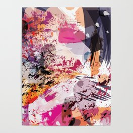 7: a vibrant abstract in jewel tones Poster