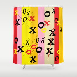 X's and O's Shower Curtain