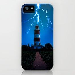 Happisburgh Lighthouse Lightning Strike iPhone Case