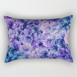 Hibiscus Flower Pattern Rectangular Pillow
