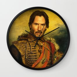 Keanu Reeves - replaceface Wall Clock