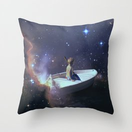 We Are Sailing - Universe, Space, Cosmos Throw Pillow