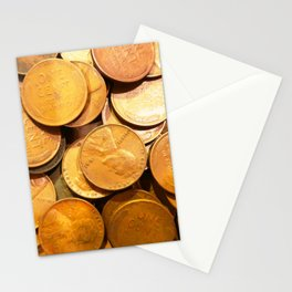 Watercolor Coins, Lincoln Wheat Pennies, 1941 02 Stationery Cards