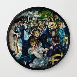Auguste Renoir - Dance At Le Moulin De La Galett Wall Clock