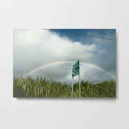 Rainbow on Kuamoo Road Metal Print