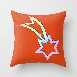Rainbow Shooting Star   Gift idea Throw Pillow