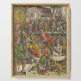 Albrecht Dürer - The Apocalypse (1498) - The Apocalypse of Saint John Serving Tray