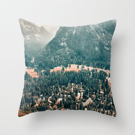 Yosemite Valley - Fall Colors Throw Pillow