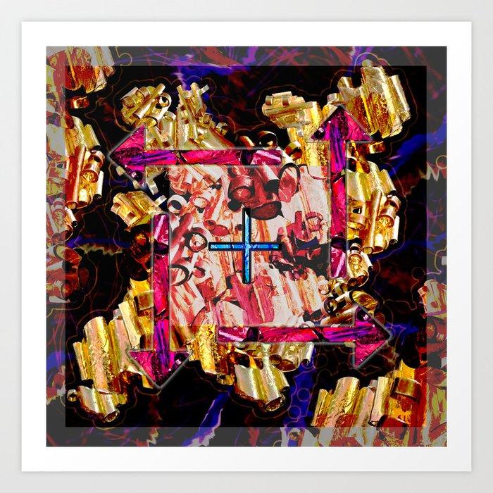 Tubular Abstract Art Print