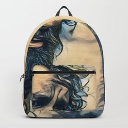 Cast Away Long Beard Survivor Alone Island Movie Backpack