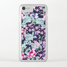 Floral Pattern 1 Clear iPhone Case