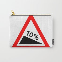 10 Percent Incline Traffic Sign Isolated Carry-All Pouch