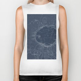Crater Lake Blueprint Map Design Biker Tank