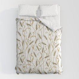Art Nouveau - Scattered Wheat Comforters