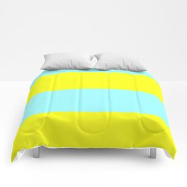 ice blue and yellow Comforters