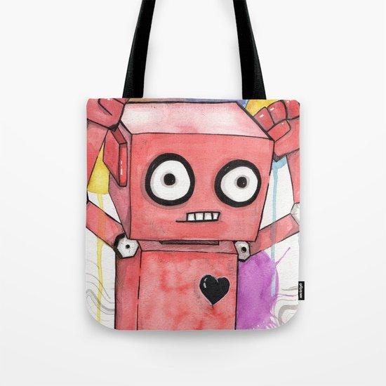 Robot Rage  Tote Bag