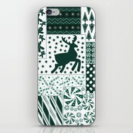 Holiday Green Quilt Design iPhone Skin