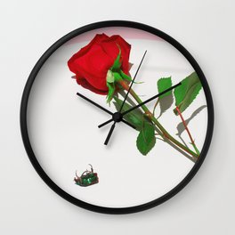Fig Beetle & Rose Wall Clock