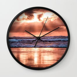 Northern California Sunset - Nature Photography Wall Clock
