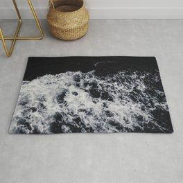 OCEAN - WAVES - SEA - ROCKS - DARK - WATER Rug