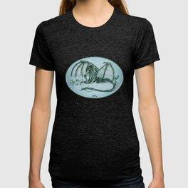 """Material Girl"" by Amber Marine ~ (Sea Mist Version) Graphite Dragon Illustration, (Copyright 2005) T-shirt"