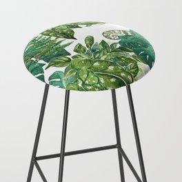 A Pattern of Plants Bar Stool
