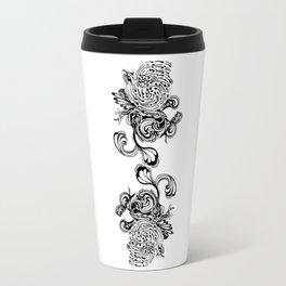 Floral Dichotomy Travel Mug