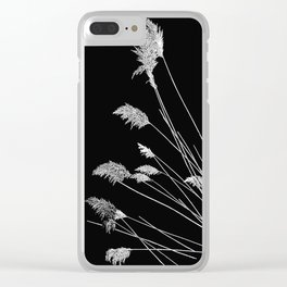 Dry Reeds on Black Clear iPhone Case