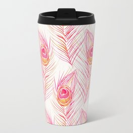 Peacock Feather – Peachy Pink Palette Travel Mug