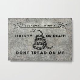 Culpeper Minutemen flag, Worn distressed version Metal Print