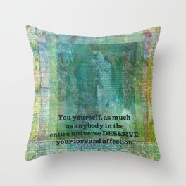 Buddha positive inspiring quote Throw Pillow