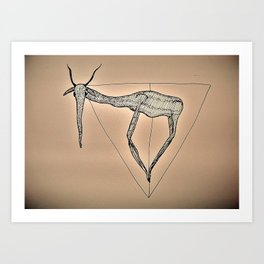 elephant deer legs triangle Art Print