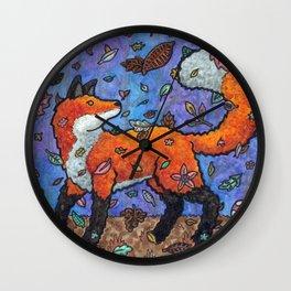 Fantasy Forest Fox Wall Clock