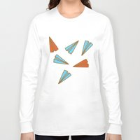 planes Long Sleeve T-shirts featuring Paper Planes by evannave