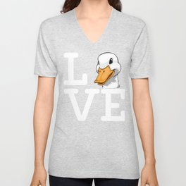 Duck Love Funny Water Ducklings Unisex V-Neck